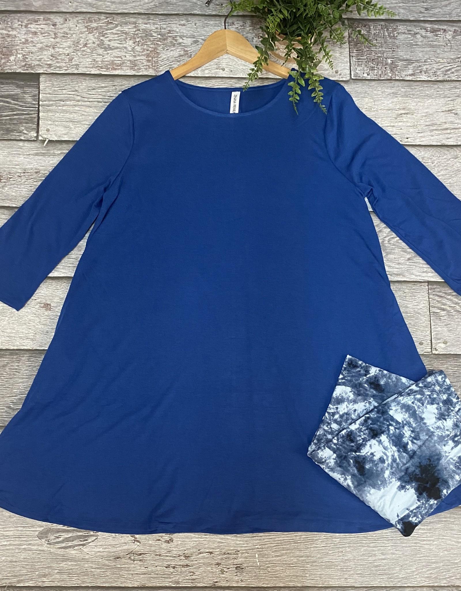 SASS Boutique Exclusive Blue Tie Dye Leggings
