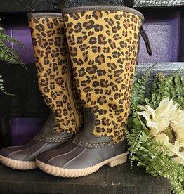 SASS Boutique Exclusive Kids Leopard Rainboots