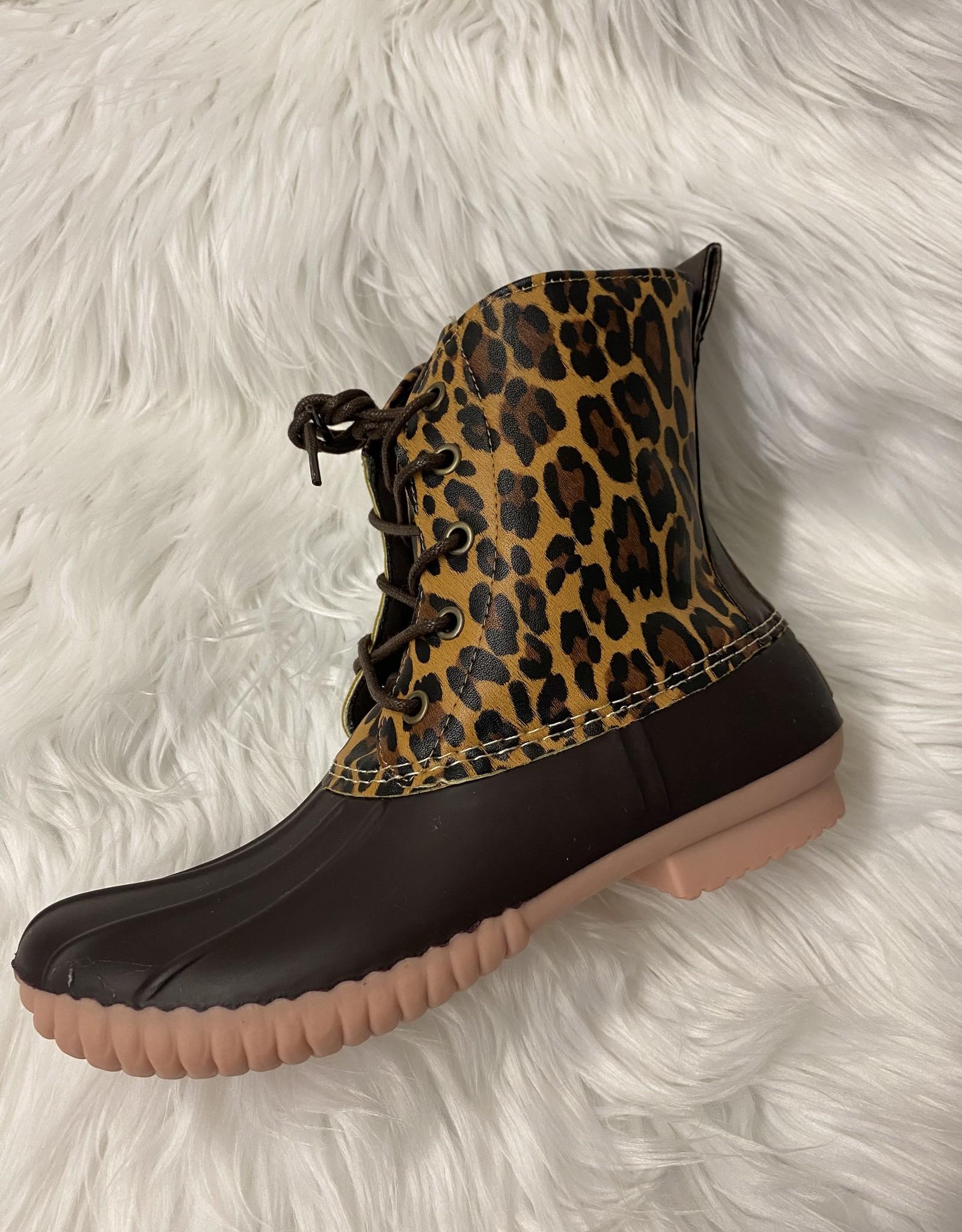 SASS Boutique Exclusive Leopard Tie Rainboot