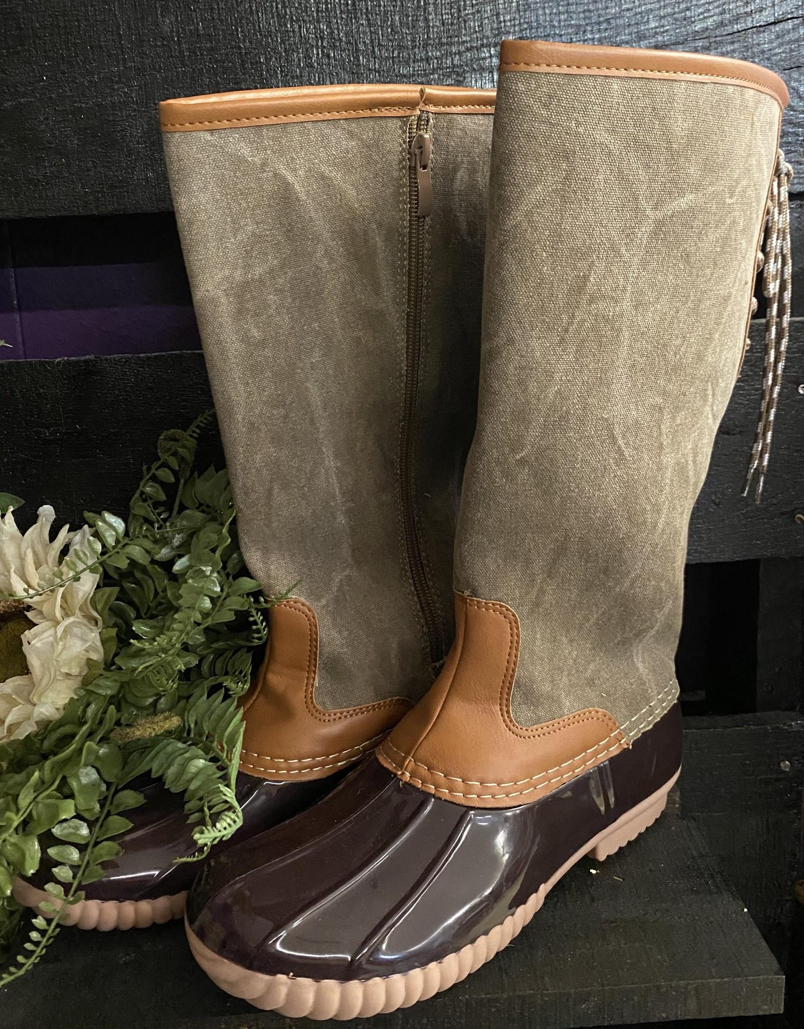 SASS Boutique Exclusive Brown Rainboots