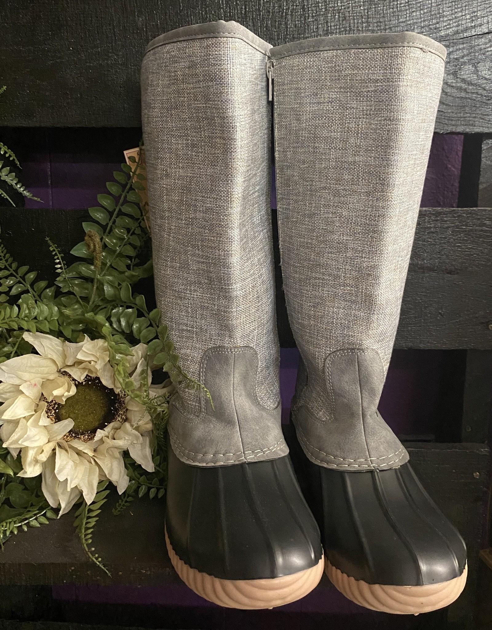 SASS Boutique Exclusive Grey Rainboots