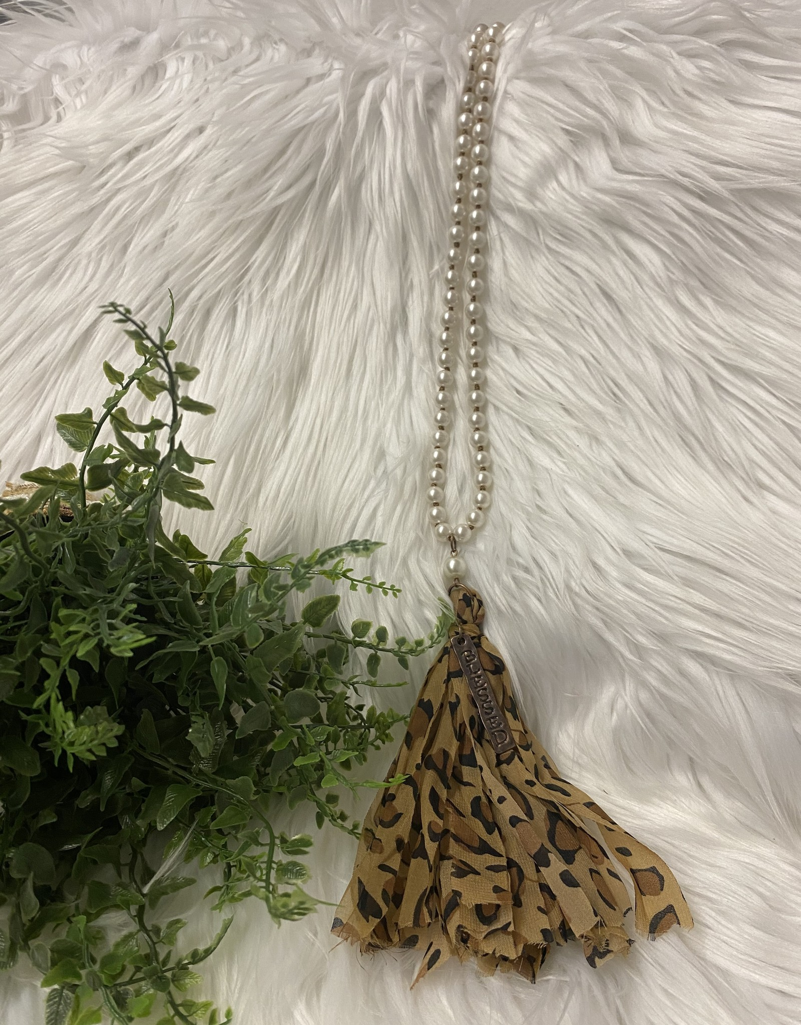 SASS Boutique Exclusive Pearl Leopard Blessed Necklace