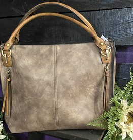SASS Boutique Exclusive Espresso Distressed Tote