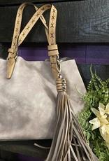 SASS Boutique Exclusive Grey Tassel Handbag