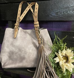 SASS Boutique Exclusive Grey Tassel Handbag