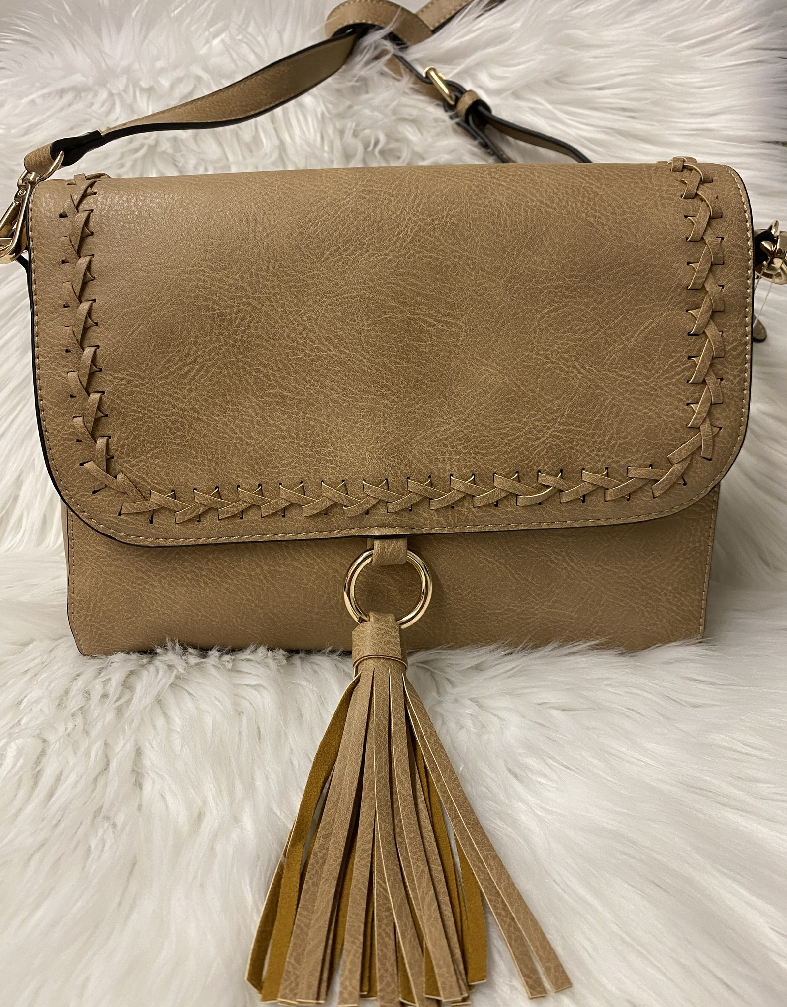 Buford Wholesale Whipstitch Flapover Crossbody