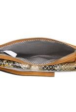 Buford Wholesale Black Snakeskin Crossbody
