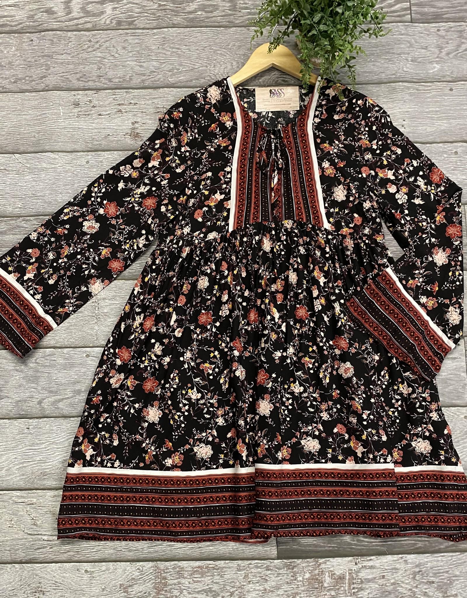 SASS Boutique Exclusive Black Floral Dress