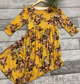 SASS Boutique Exclusive Mustard Floral Maxi