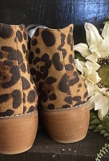 SASS Boutique Exclusive Black Animal Print Booties