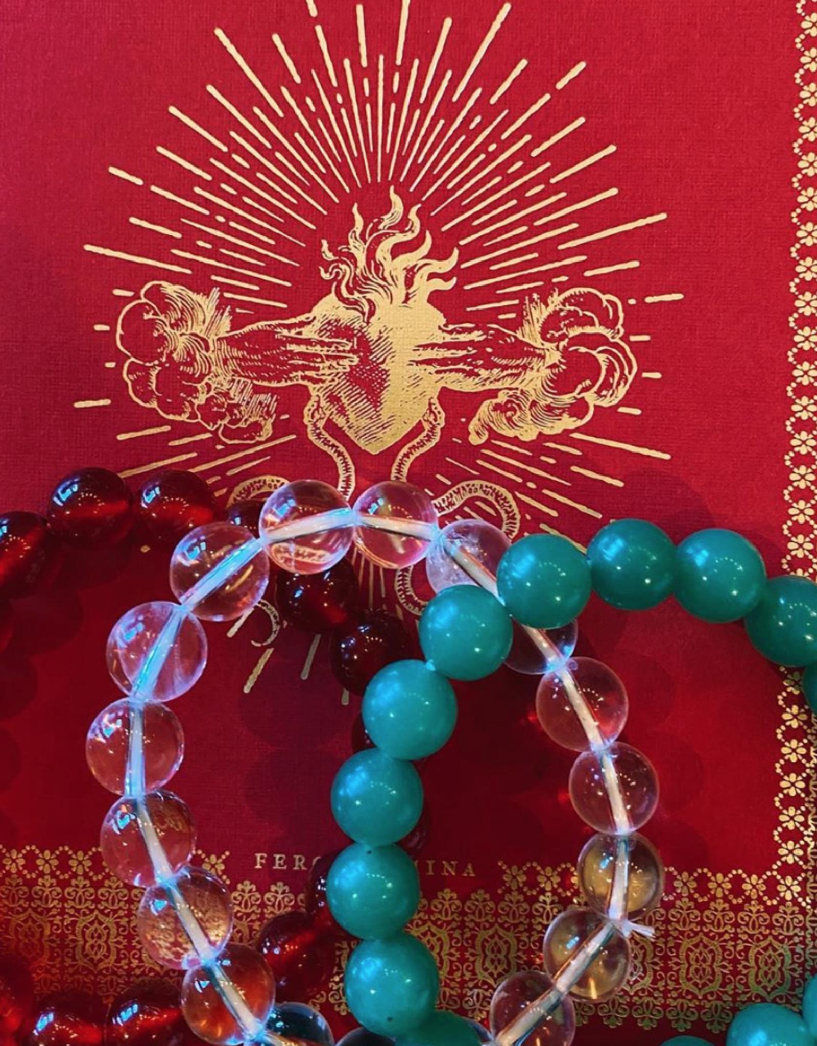 Etymology Quartz beaded bracelet