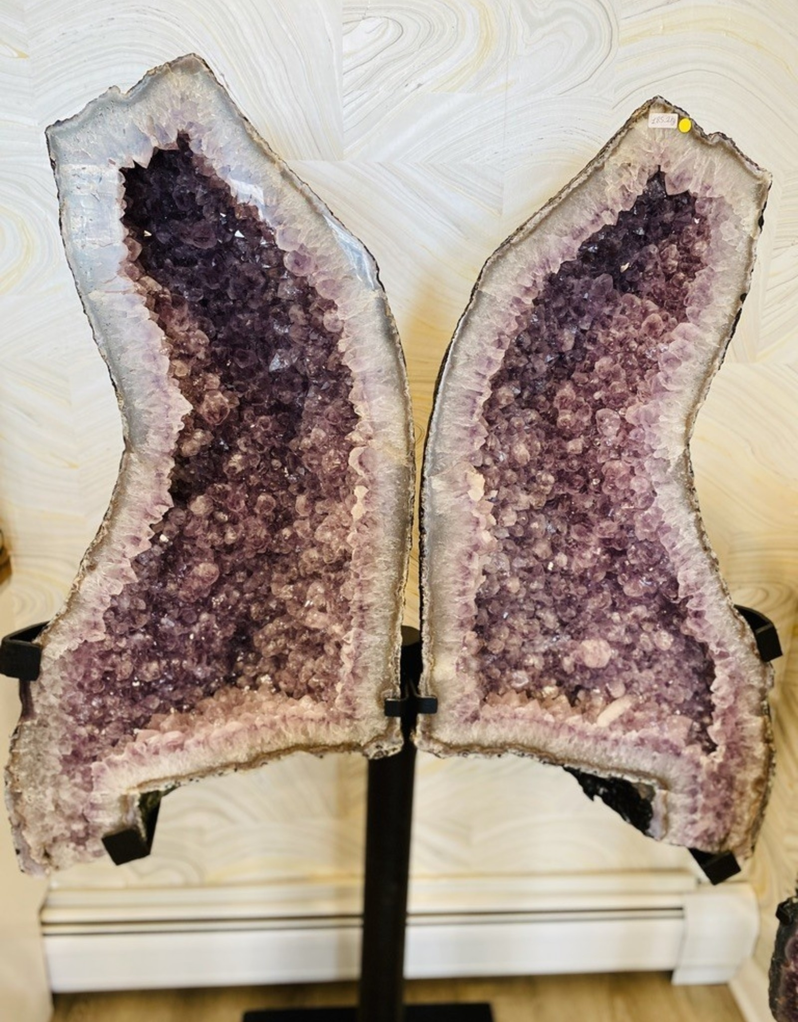 """From The Mines Amethyst Butterfly Wings (65"""" x 42"""")"""