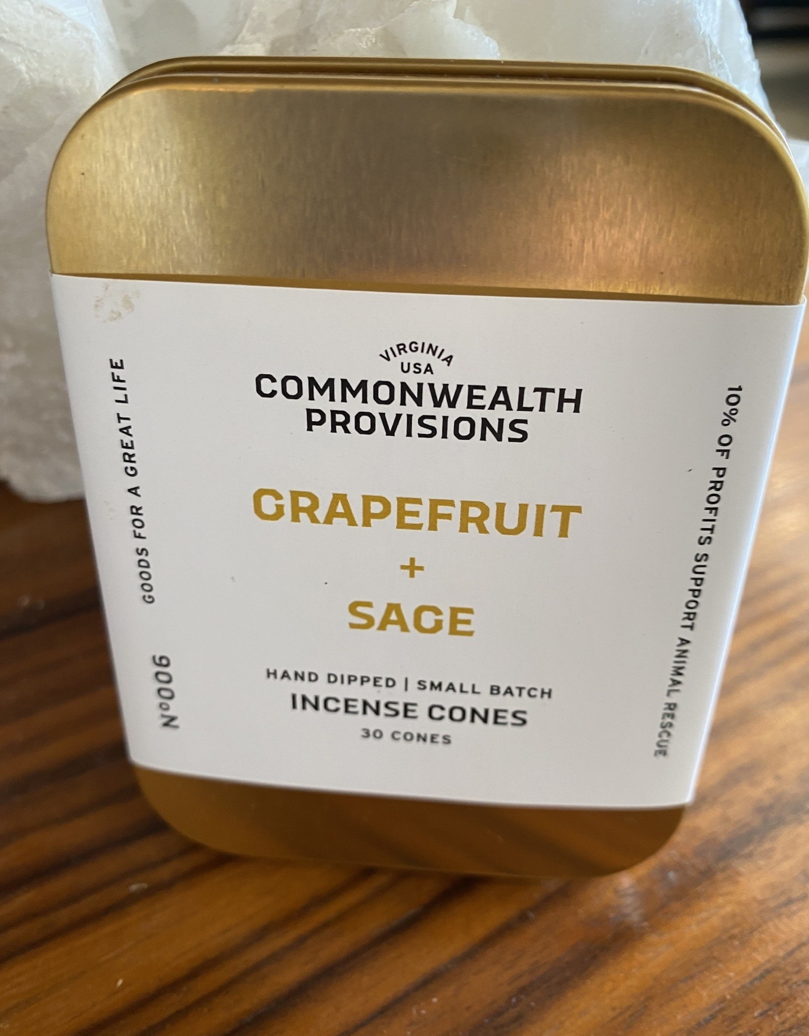 Commonwealth Provisions CP Hand Dipped Incense Cones in Tin