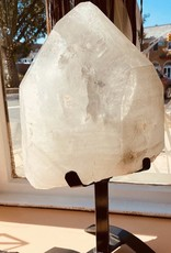 Clear Crystal Quartz Point w/stand