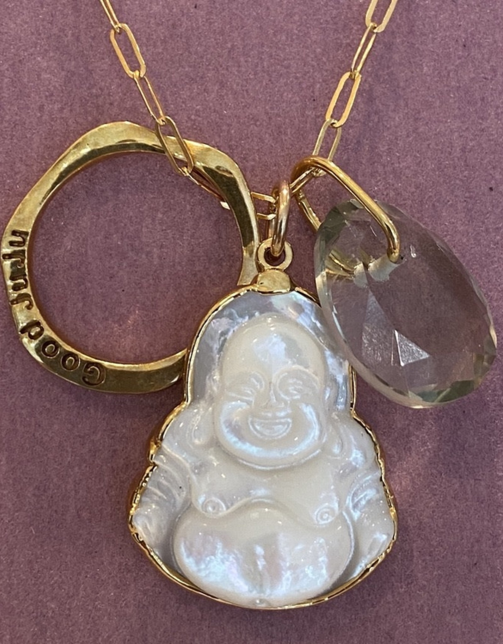 Inner Zen gold plate necklace