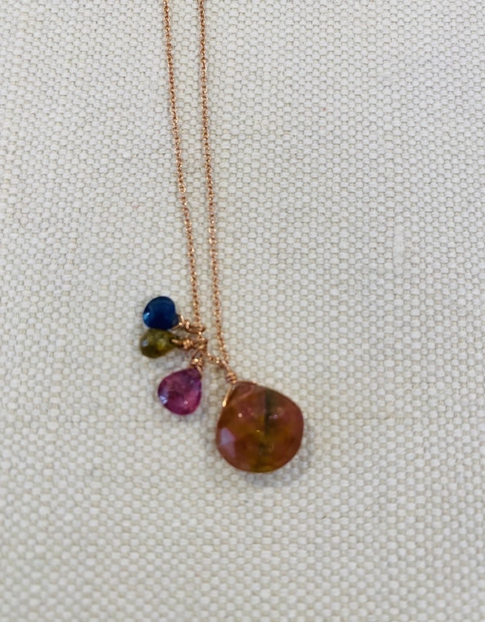 14k Tourmaline Sapphire Necklace