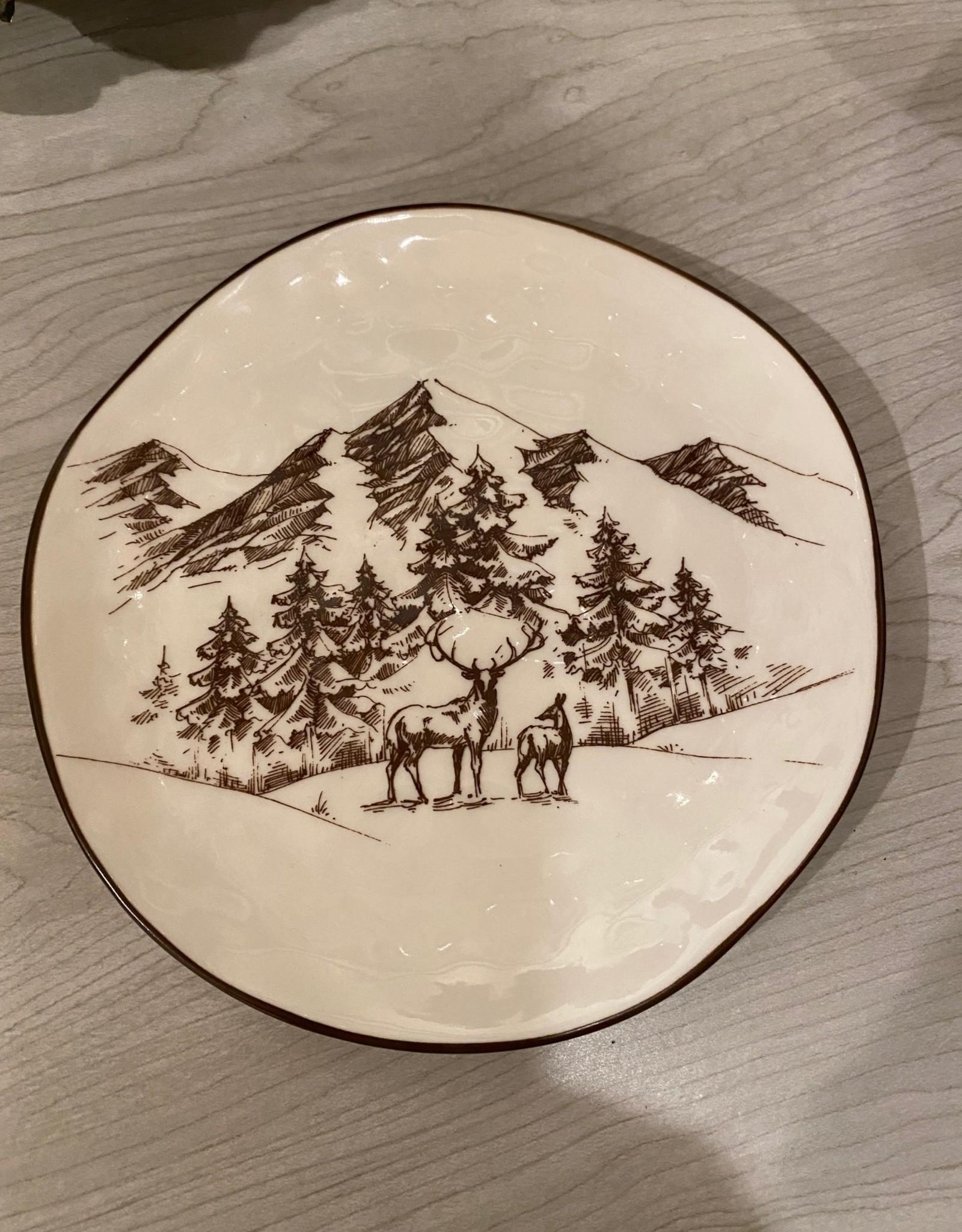 Brown Winter Scene Plate