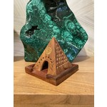 Wooden Temple Incense Burner