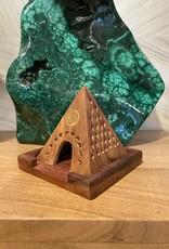 Wooden Temple Incense Burner