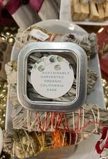 Harvested Sage Tips w/charcoal base