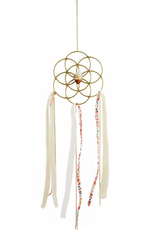 Dreamcatcher Crystal Grid Ornament -Citrine