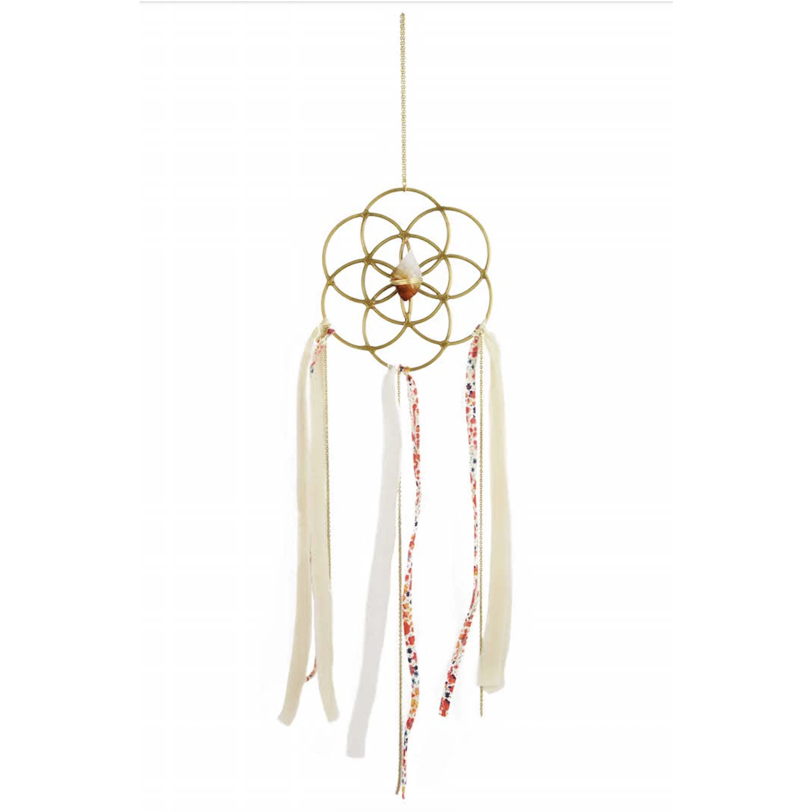 Dreamcatcher Crystal Grid Ornament -Citrine
