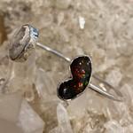 Double Fire Opal Bracelet Cuff