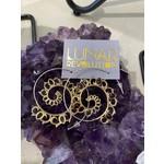 Fiery Lotus Spiral Earrings