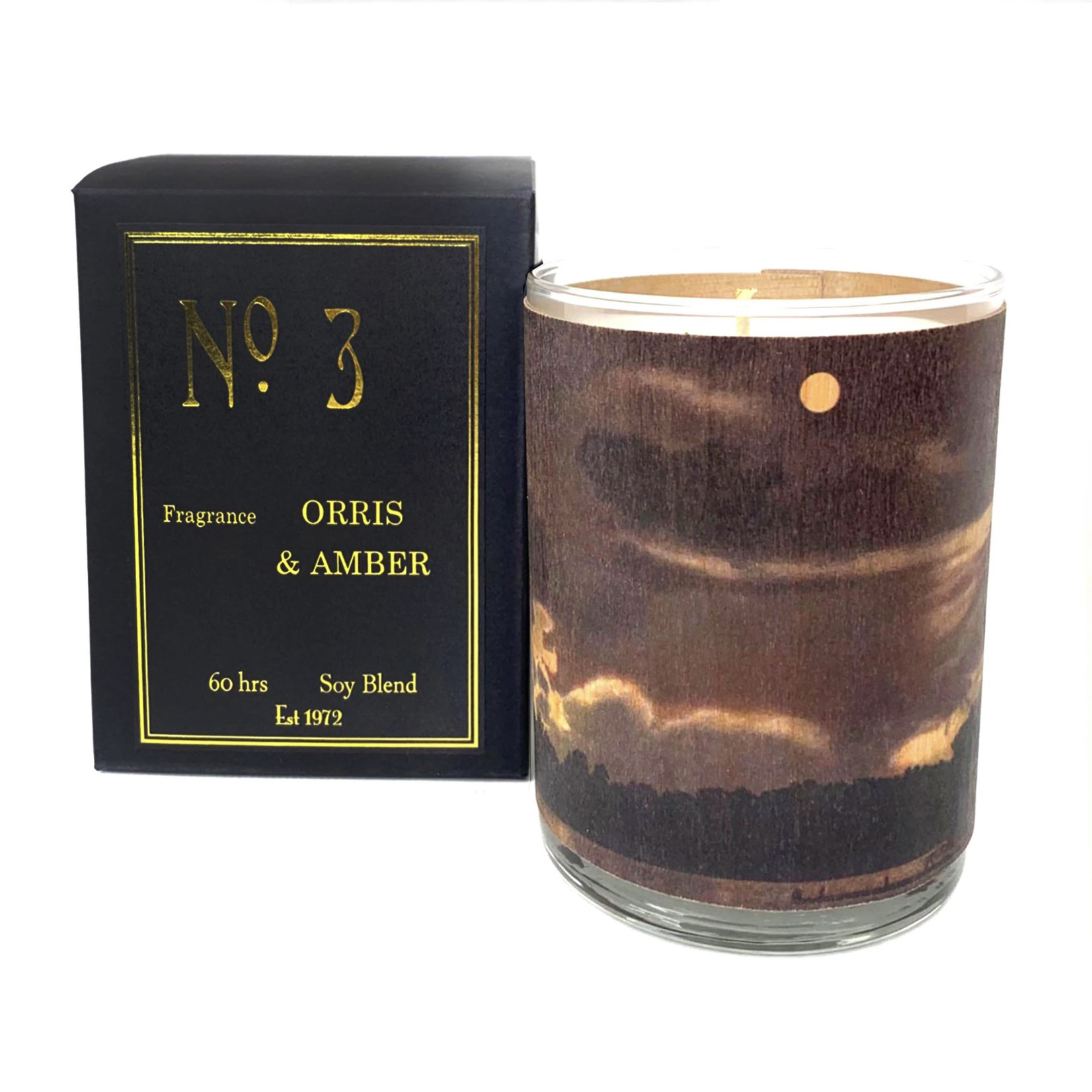 Orris and Amber Candle No 3