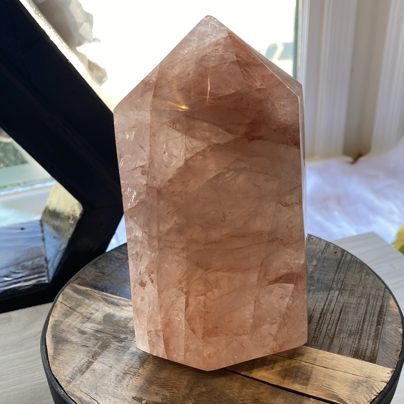 Red Rutilated Quartz polished tower