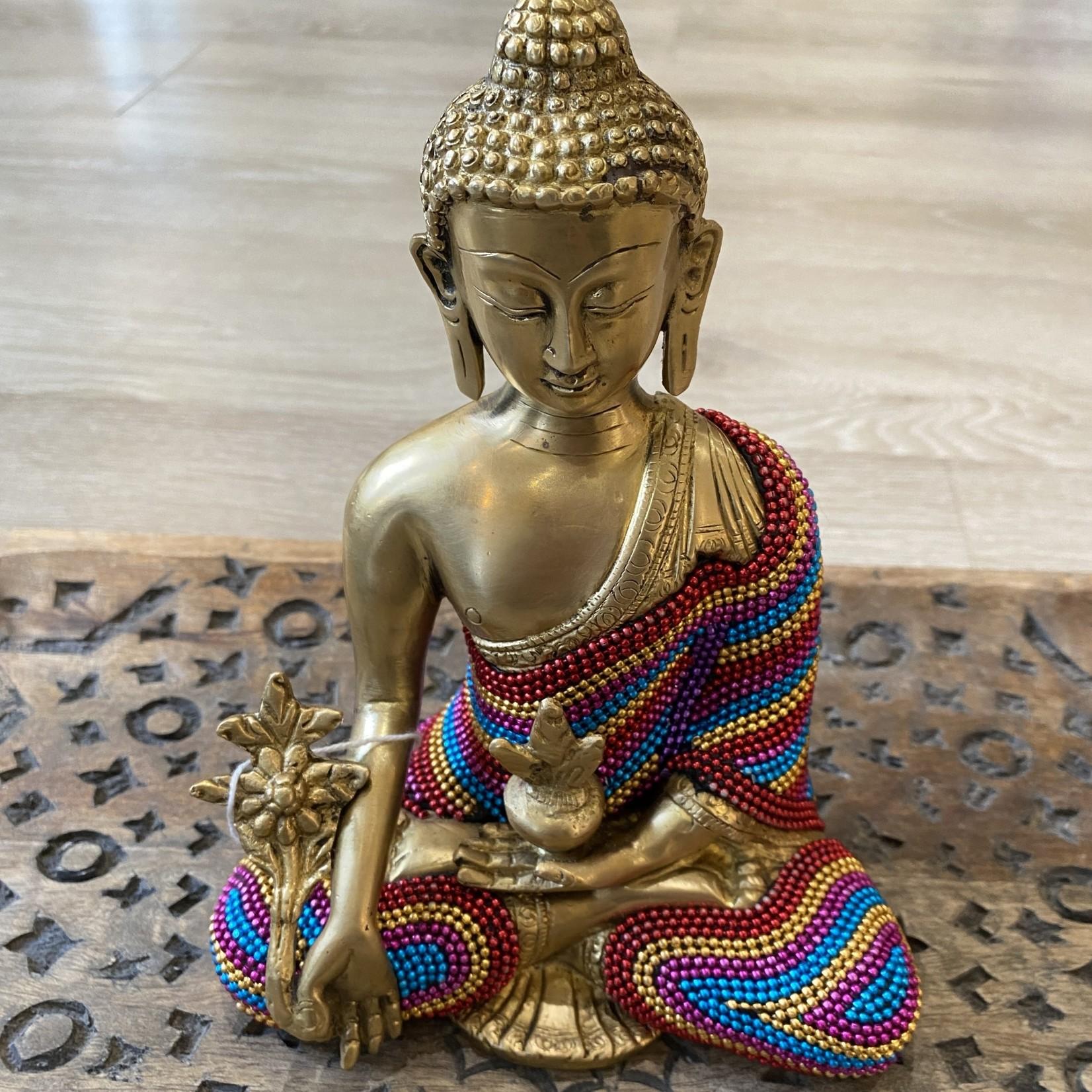 Buddha Calling the Earth to Witness Buddha w/Beads