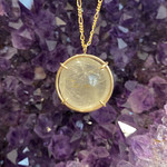 Rutilated Quartz GF Crystal Ball Necklace