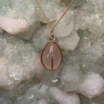 Rose Quartz Crystal Pendulum GF Necklace