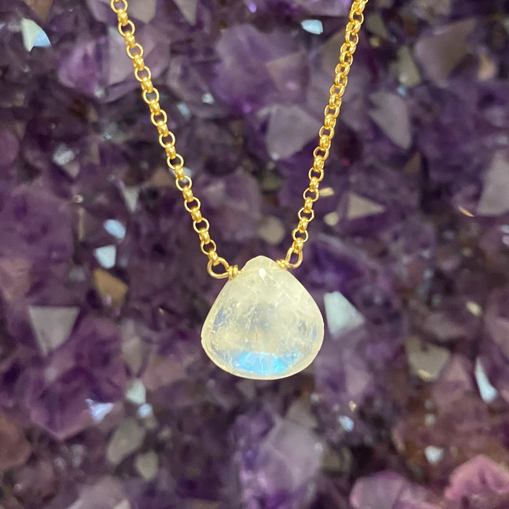 Single Stone Moonstone GF Rolo