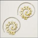 Spiraling Lotus Earrings