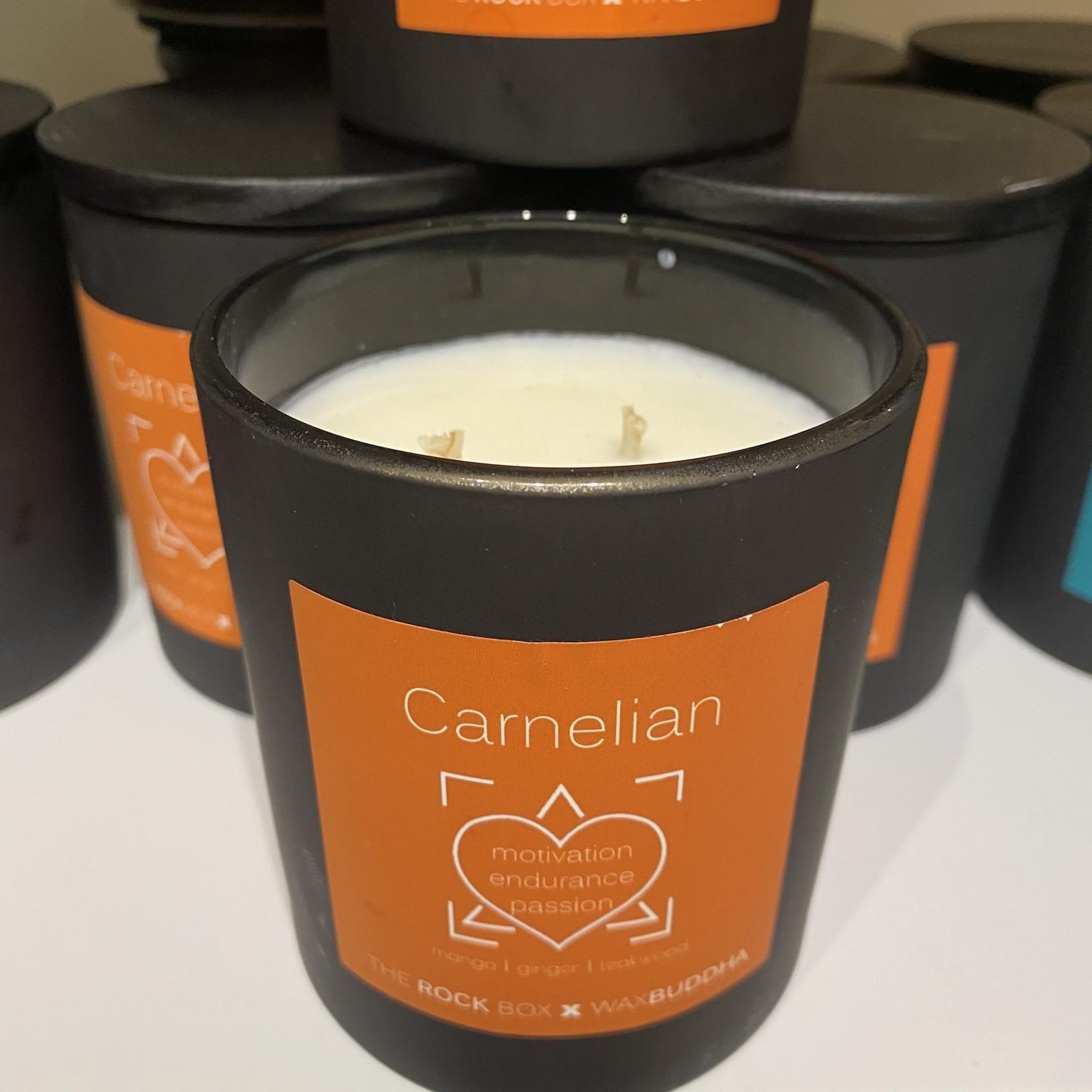 Rock Box Carnelian Candle