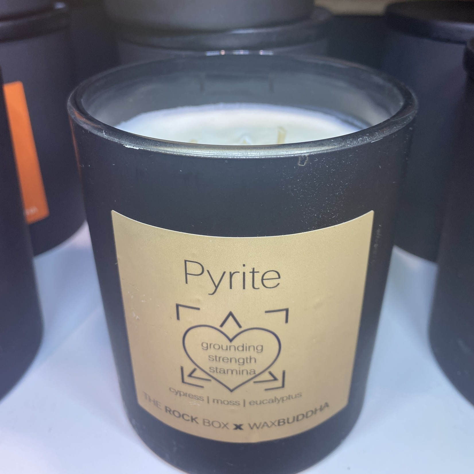 Rock Box Pyrite Candle