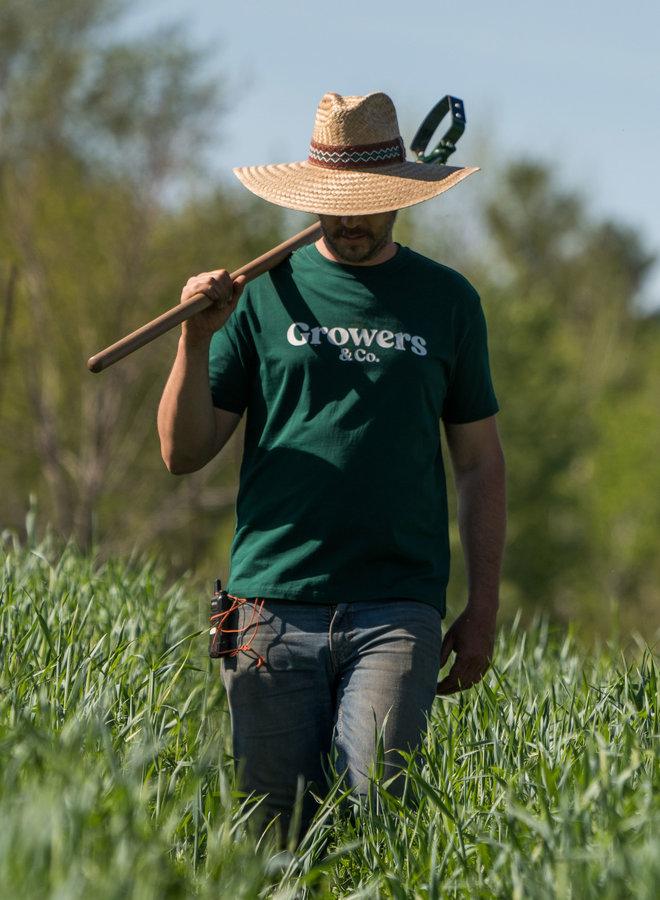 T-Shirt Mission Growers Vert Verdant Homme