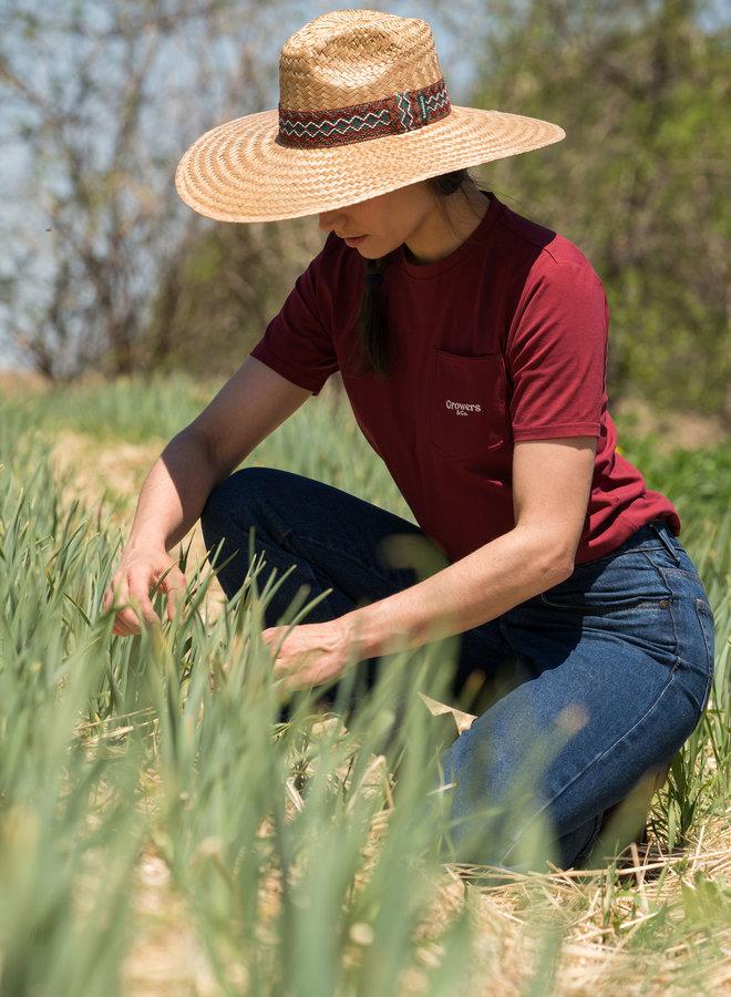 San Marzano Pocket T-Shirt Redwine Women