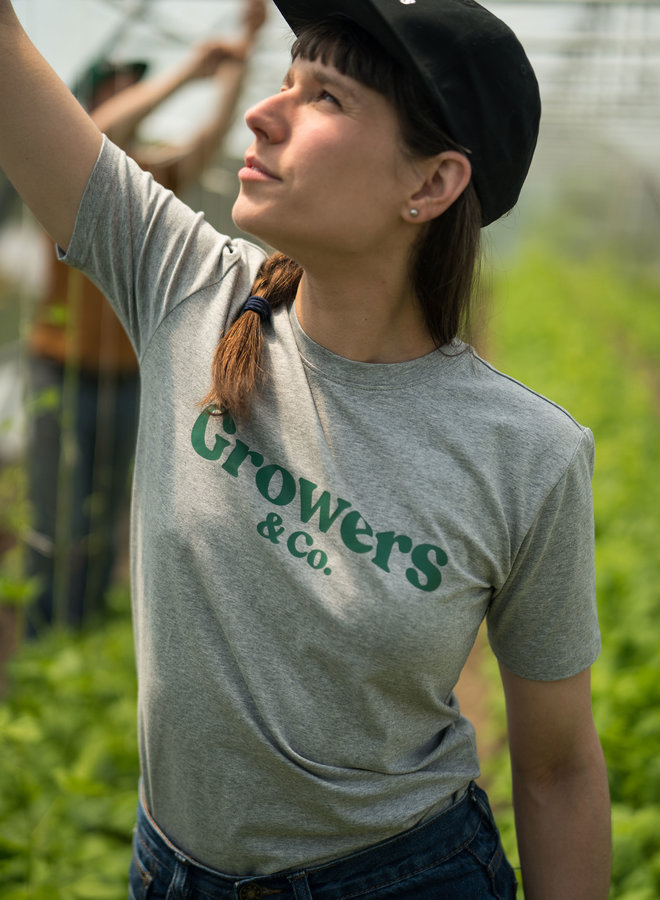 T-Shirt Mission Growers Gris Chiné Femme