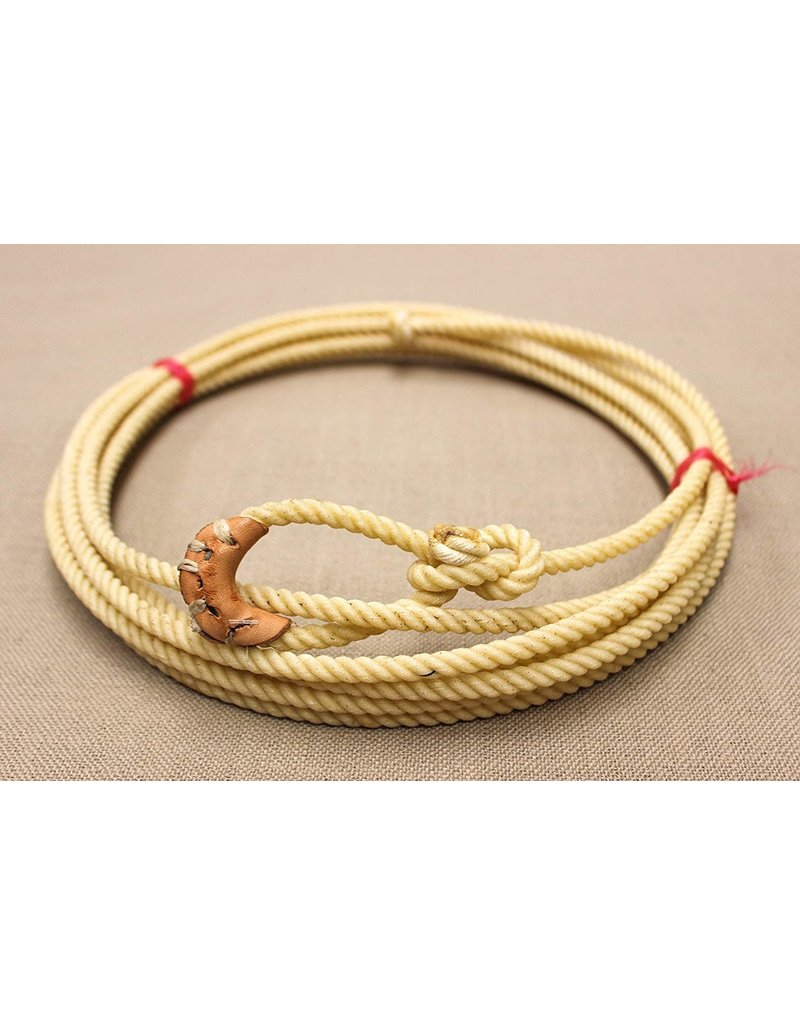 20 Foot White Soft Kid Rodeo Lasso Lariat with Burner