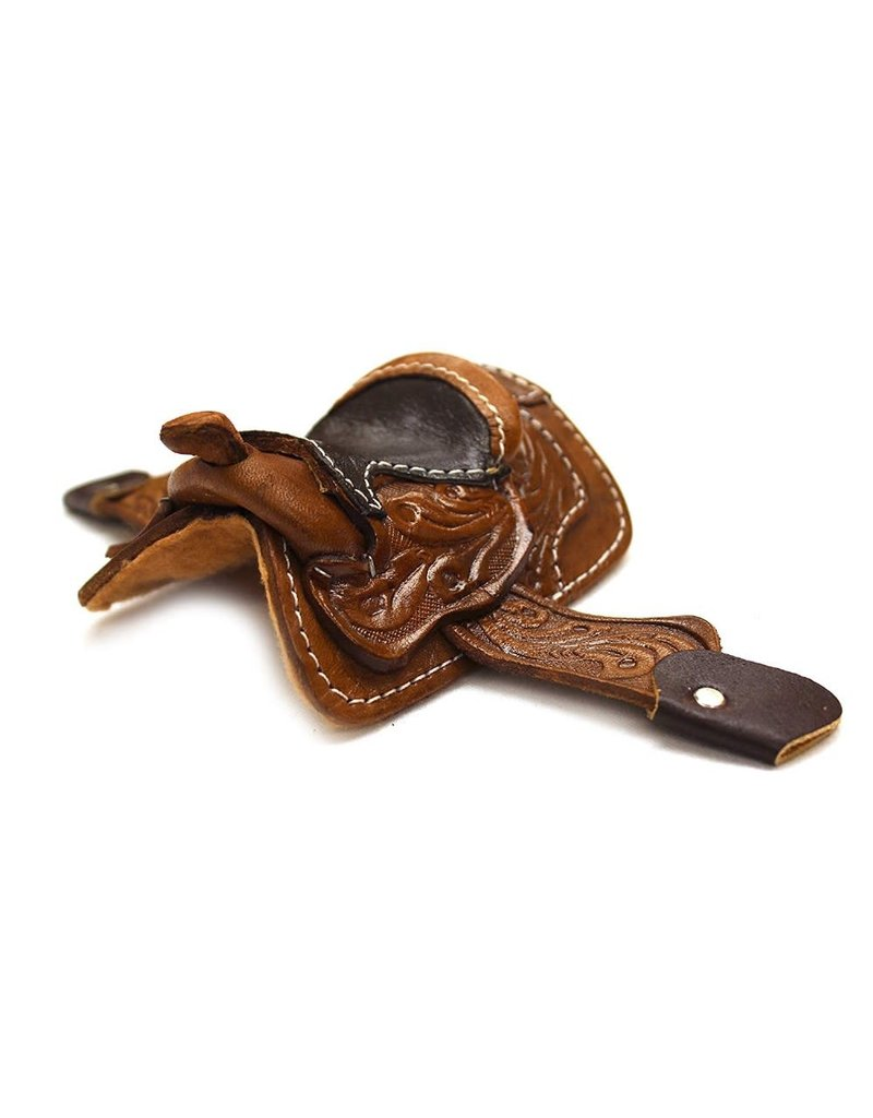 """2"""" Black Western Miniature Saddle Decor Cowgirl Cowboy Toy Saddle"""