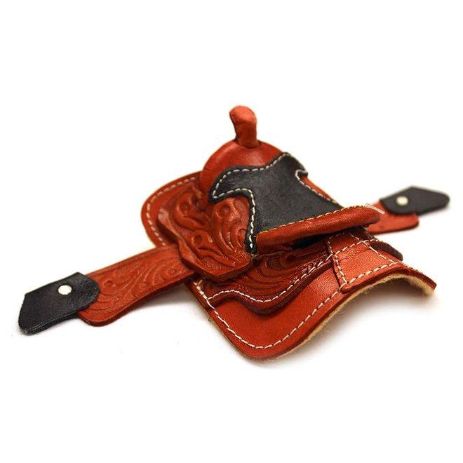 """2"""" Miniature Western Saddle Leather Decor Saddle Cowboy Cowgirl Toy"""