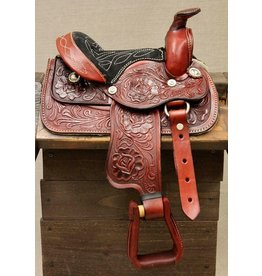 "8"" Red Toddler Mini Horse saddle"