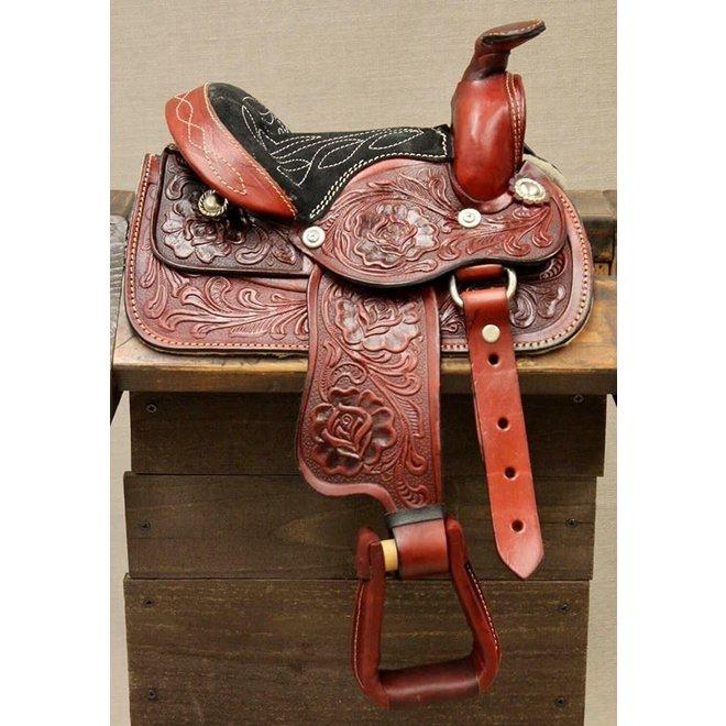 "8"" Toddler Infant New Born Size Red Toddler Mini Horse saddle"