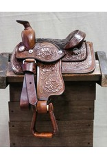 "8"" Brown  Mini Toddler Size Leather Western Miniature Pony Saddle"