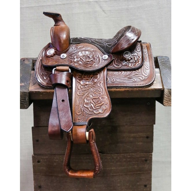 "8"" Brown Toddler Infant New Born Size Pony Toddler Saddle"