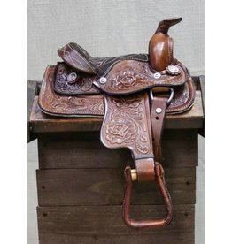 "8"" Brown Pony Toddler Saddle"