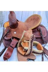 Western Rawhide Leather Pony Kids Stirrups Tack Estribos