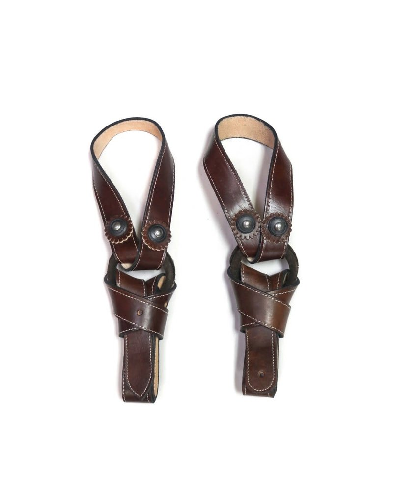 Brown Charro Saddle Latigo Replacement Set